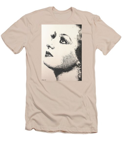 Men's T-Shirt (Slim Fit) featuring the painting Joan Crawford by Cherise Foster
