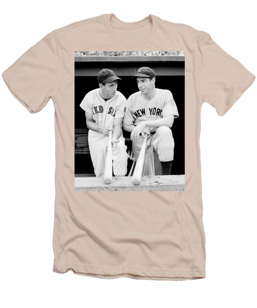 Joe Dimaggio And Ted Williams Men's T-Shirt (Athletic Fit)
