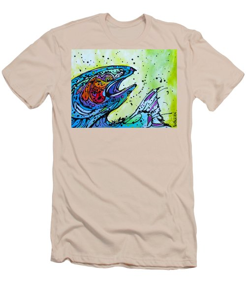 Men's T-Shirt (Slim Fit) featuring the painting Karl by Nicole Gaitan