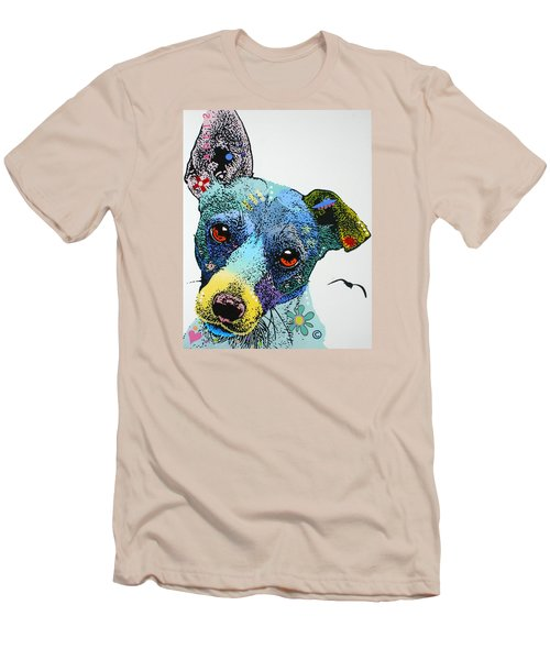 Men's T-Shirt (Slim Fit) featuring the painting Jack by Luis Ludzska