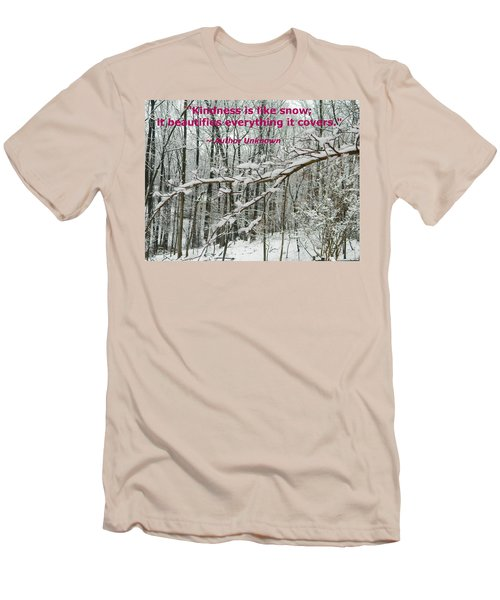 Men's T-Shirt (Slim Fit) featuring the photograph Kindness Is Like Snow by Emmy Marie Vickers