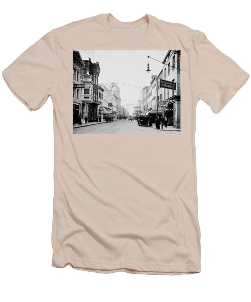 King Street In Charleston South Carolina Circa 1910 Men's T-Shirt (Athletic Fit)