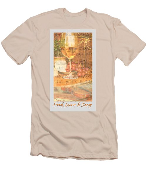 Food Wine And Song Men's T-Shirt (Athletic Fit)