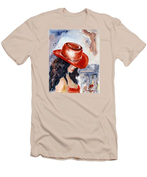 The Red Hat Men's T-Shirt (Slim Fit) by Genevieve Brown