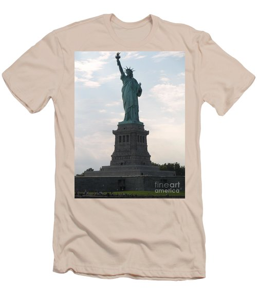 Men's T-Shirt (Slim Fit) featuring the photograph Lady Liberty by Luther Fine Art