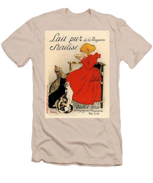 Lait Pur De La Vingeanne Sterilise Men's T-Shirt (Slim Fit) by Gianfranco Weiss