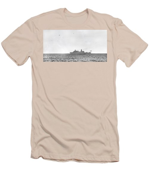 Landing On The Horizon Men's T-Shirt (Slim Fit) by Betsy Knapp