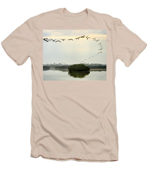 Landing Pattern Men's T-Shirt (Athletic Fit)