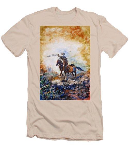 Lassoing Men's T-Shirt (Slim Fit) by Zaira Dzhaubaeva