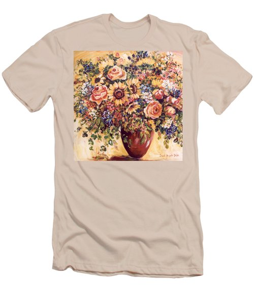 Late Summer Bouquet Men's T-Shirt (Slim Fit) by Alexandra Maria Ethlyn Cheshire