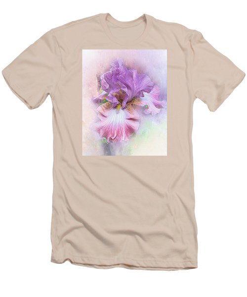 Men's T-Shirt (Slim Fit) featuring the digital art Lavendar Dreams by Mary Almond