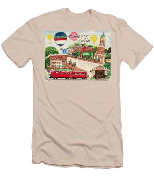 Lebanon Ohio Men's T-Shirt (Slim Fit) by Diane Pape