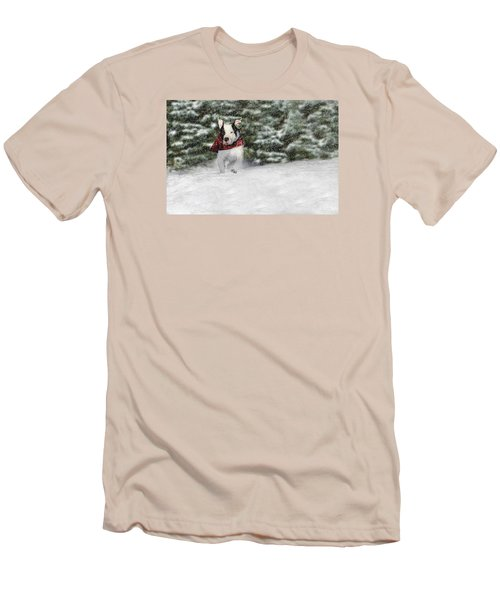 Snow Day Men's T-Shirt (Slim Fit) by Shelley Neff