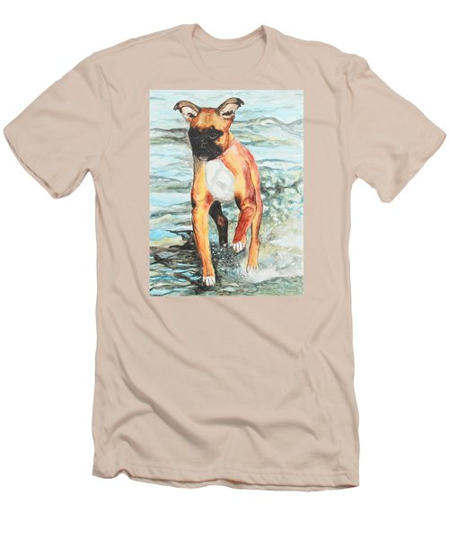 Men's T-Shirt (Slim Fit) featuring the painting Leyla by Jeanne Fischer