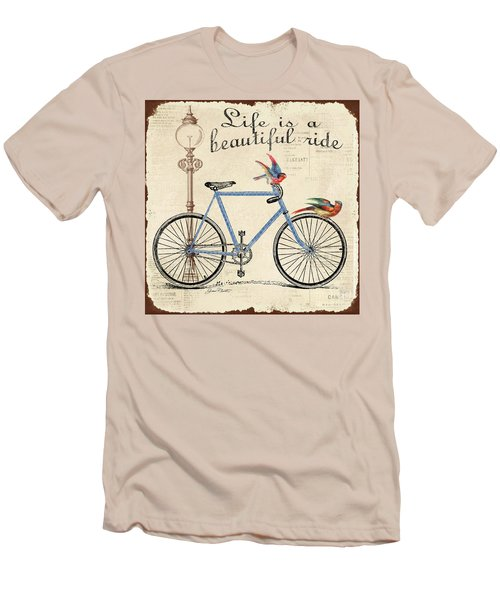 Life Is A Beautiful Ride Men's T-Shirt (Slim Fit) by Jean Plout