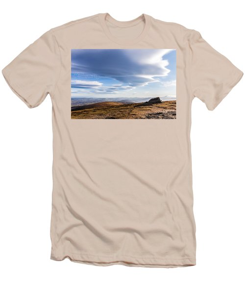 Lightfall On Djouce Mountain Summit Men's T-Shirt (Slim Fit) by Semmick Photo