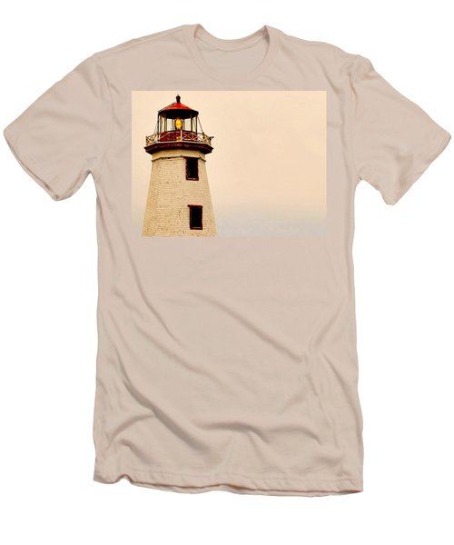 Lighthouse Beam Men's T-Shirt (Slim Fit) by Steve Archbold