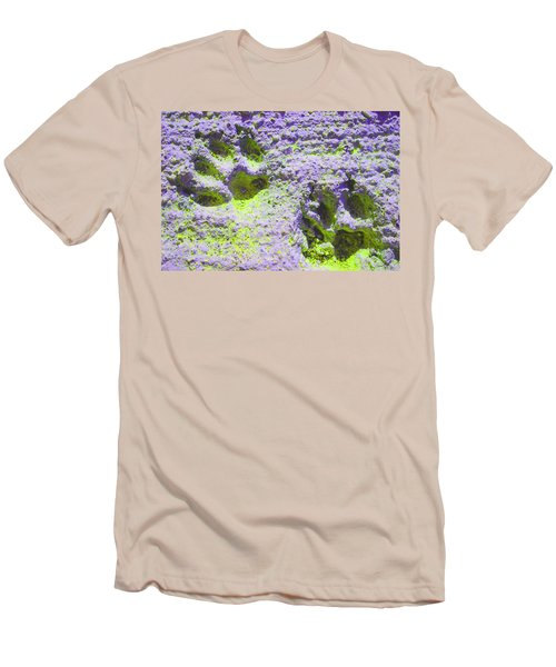 Lilac And Green Pawprints Men's T-Shirt (Athletic Fit)