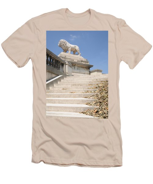 Men's T-Shirt (Slim Fit) featuring the photograph Lion Tuileries Garden Paris by Jeremy Voisey