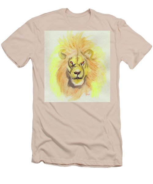 Lion Yellow Men's T-Shirt (Slim Fit) by First Star Art