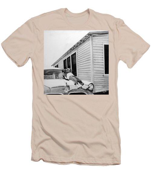 Little Girl Enjoying The Sun Men's T-Shirt (Slim Fit) by Chelle Brantley