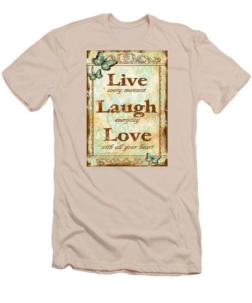 Live-laugh-love Men's T-Shirt (Athletic Fit)
