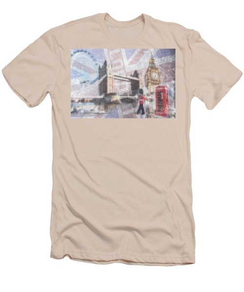 London Blue Men's T-Shirt (Athletic Fit)