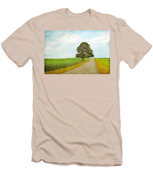 Men's T-Shirt (Slim Fit) featuring the photograph Lone Tree by Brooke T Ryan