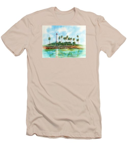 Long Beach Lighthouse  Version 2 Men's T-Shirt (Athletic Fit)