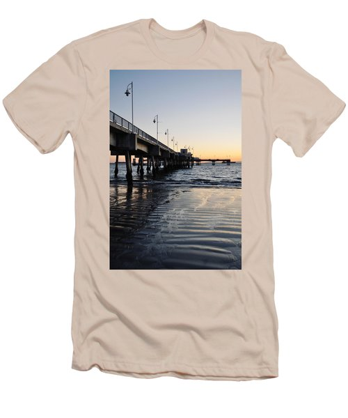Men's T-Shirt (Slim Fit) featuring the photograph Long Beach Pier by Kyle Hanson