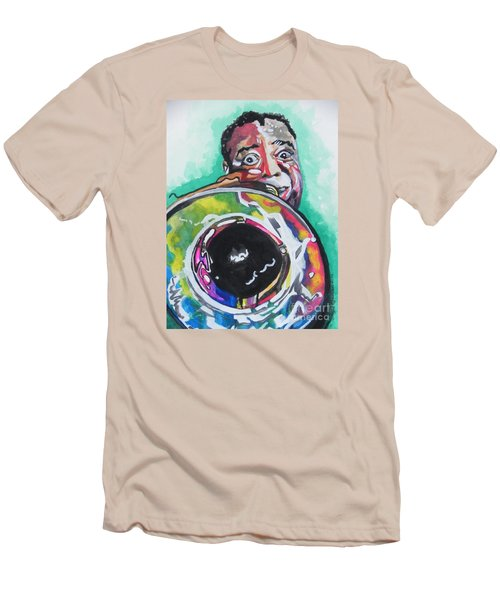 Louis Armstrong Men's T-Shirt (Slim Fit) by Chrisann Ellis