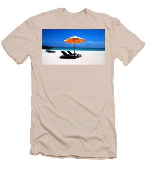 Men's T-Shirt (Slim Fit) featuring the photograph Lounging By The Sea by Joey Agbayani