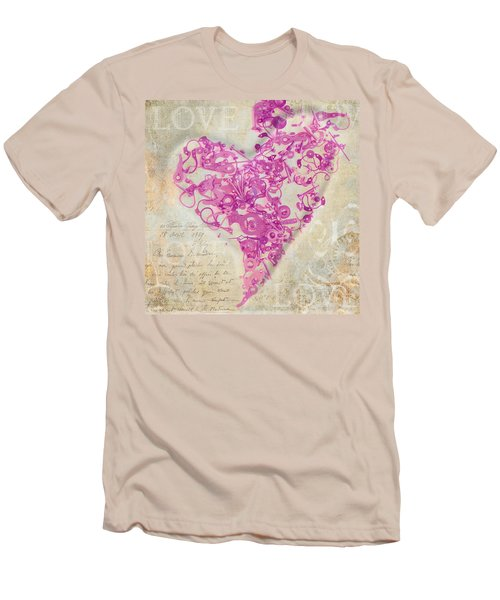 Love Is A Gift Men's T-Shirt (Slim Fit) by Fran Riley