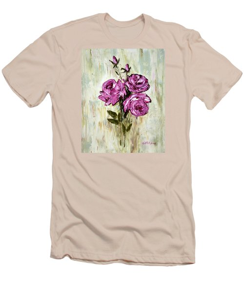 Lovely Roses Men's T-Shirt (Athletic Fit)