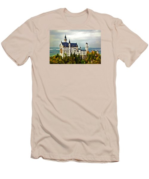 Neuschwanstein Castle In Bavaria Germany Men's T-Shirt (Athletic Fit)
