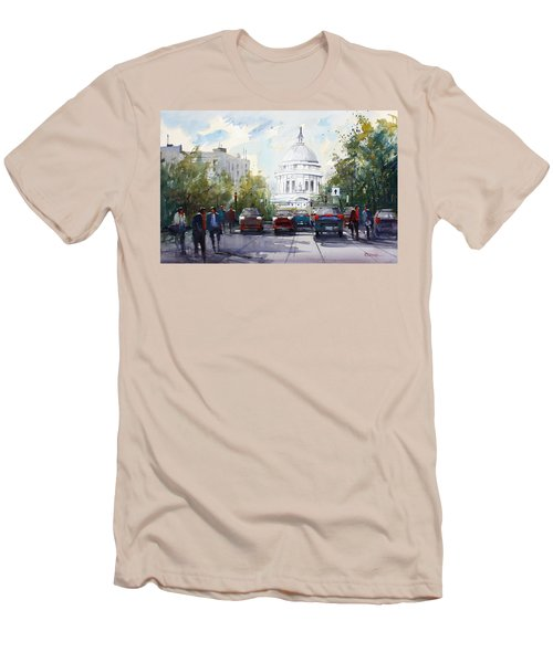 Madison - Capitol Men's T-Shirt (Slim Fit) by Ryan Radke