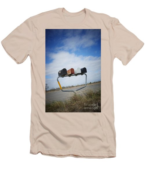Men's T-Shirt (Slim Fit) featuring the photograph Mailboxes by Erika Weber