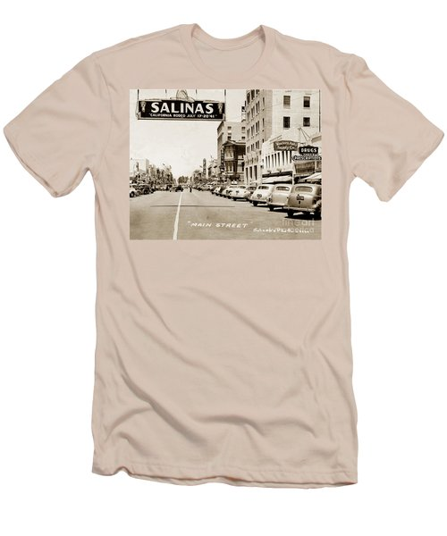 Main Street Salinas California 1941 Men's T-Shirt (Athletic Fit)