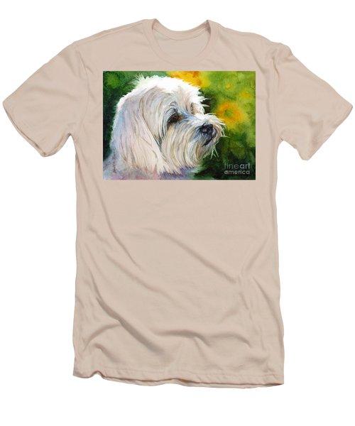 Maltese Men's T-Shirt (Slim Fit) by Bonnie Rinier
