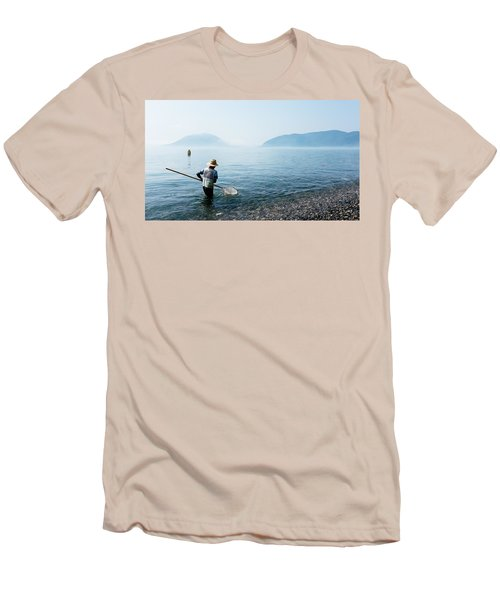 Man With A Net Men's T-Shirt (Athletic Fit)