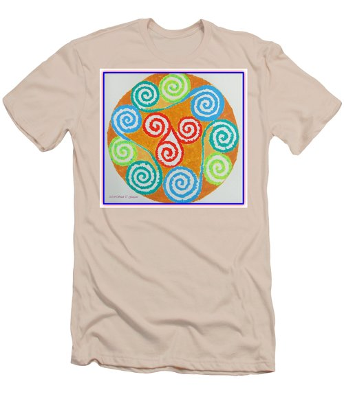 Men's T-Shirt (Slim Fit) featuring the painting Mandala by Sonali Gangane
