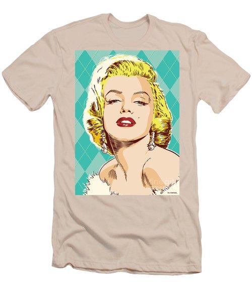 Marilyn Monroe Pop Art Men's T-Shirt (Slim Fit) by Jim Zahniser