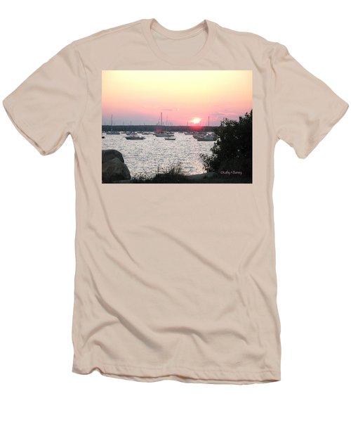 Marion Massachusetts Bay Men's T-Shirt (Slim Fit) by Kathy Barney