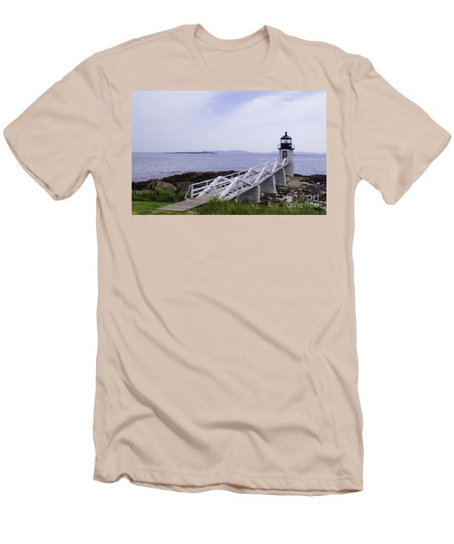 Marshall Point Light 1 Stylized Men's T-Shirt (Athletic Fit)