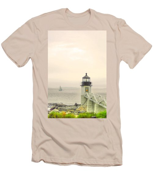 Marshall Point Lighthouse In Maine Men's T-Shirt (Athletic Fit)