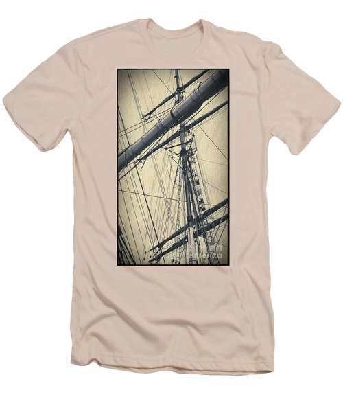 Mast And Rigging Postcard Men's T-Shirt (Athletic Fit)