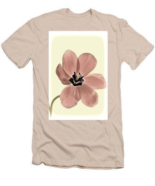 Mauve Tulip Transparency Men's T-Shirt (Athletic Fit)