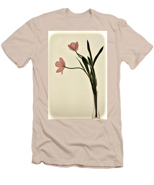 Mauve Tulips In Glass Vase Men's T-Shirt (Athletic Fit)