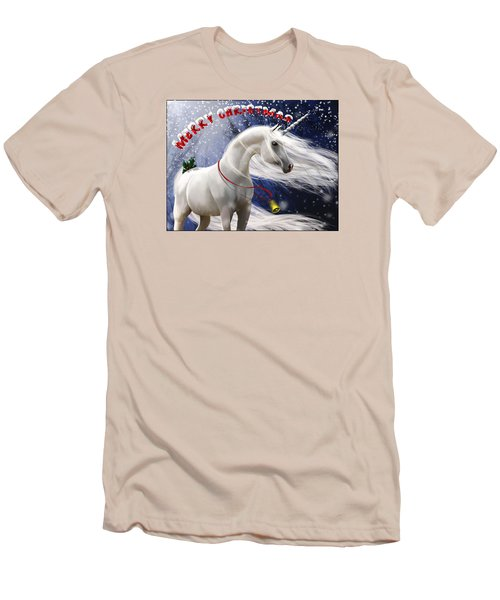 Merry Christmas Men's T-Shirt (Slim Fit) by Kate Black