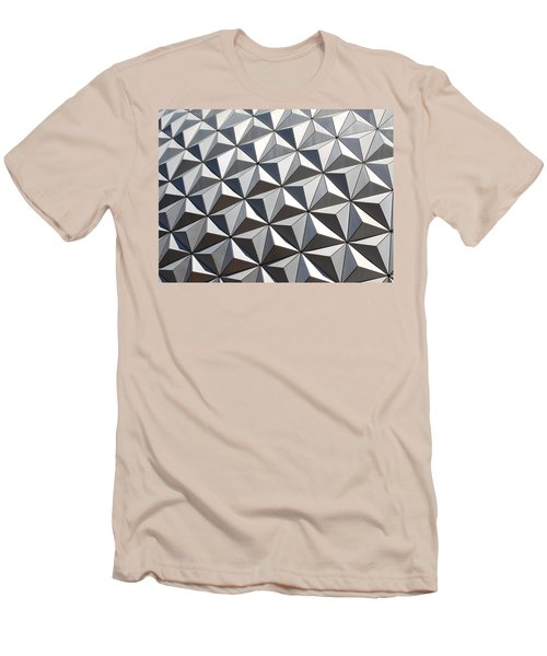 Men's T-Shirt (Slim Fit) featuring the photograph Metal Geode by Chris Thomas